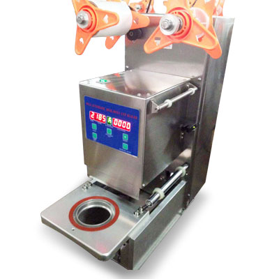 Automatic cup sealer