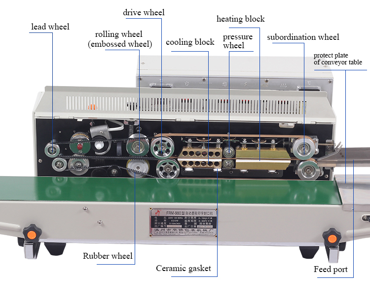 frm980 grand type ink printing sealing machine Product information
