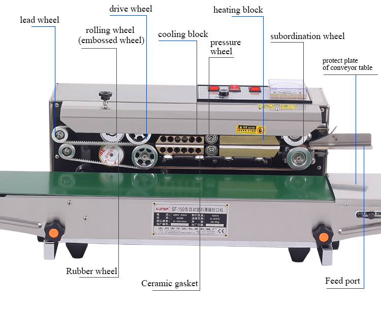 sf150 stainless steel automatic sealing machine Product information