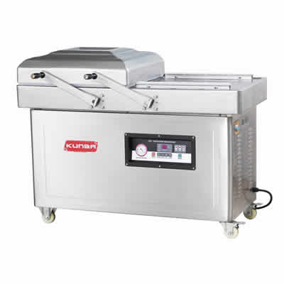 Double chamber flat type vacuum packing machine DZ-600/2SA