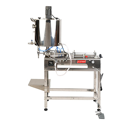 G1WGDB semi automatic paste filling machine with Heating hopper and stir