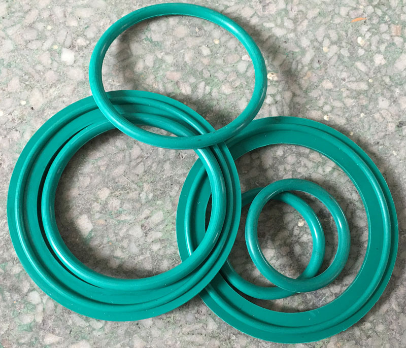 Industrial Grade PTFE O ring Gaskets Green