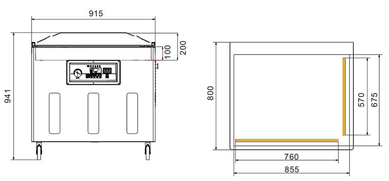 Kitchen Vacuum Sealer Supplier_Food Vacuum Machine Drawing